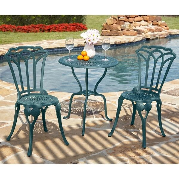 simple living 3piece jade bistro set shopping the best