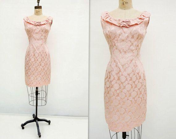 des années 60 Mod sans manches robe de Damas par StarletVintage