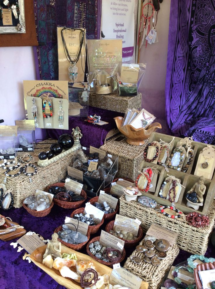My new set up  https://www.facebook.com/pages/Fairy-Leonie/308978462946  #crystals #market stall