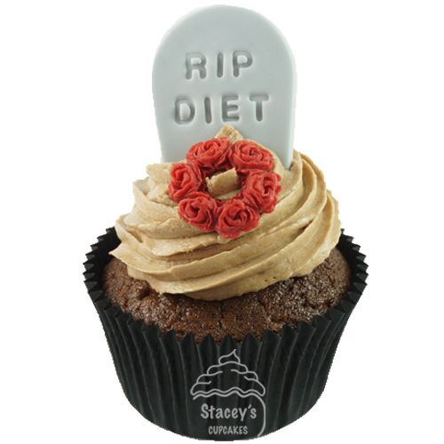 4D R.I.P Diet Cupcake by Stacey's Cupcakes www.staceyscupcakes.com.au