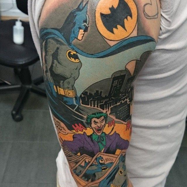 29 best tattoos for women batman theme images on pinterest for Bat sleeve tattoo