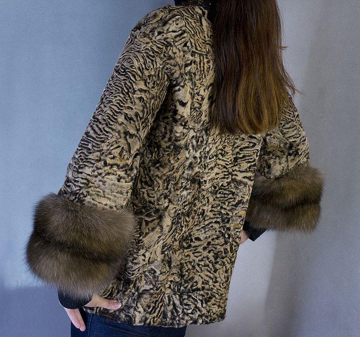 """Купить шубка """"Каракульча и соболь2"""" - соболь, каракульча, мода зима 2011, авторская вышивка, золотой"""