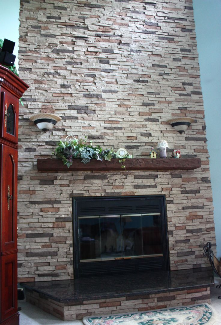 Stone fireplace with reclaimed bargeboard finish contemporary - Wood Fireplace Mantel Shelves Are A Great Way To Top Off A Tile Brick Or