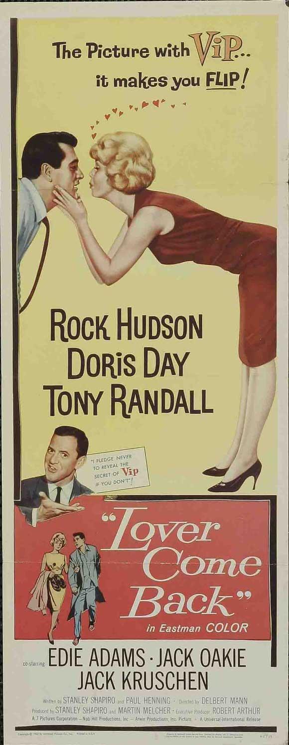 Lover Come Back Rock Hudson, Doris Day and Tony Randall1961