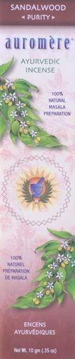 Sandalwood Incense - Purity - Auromere® Ayurveda