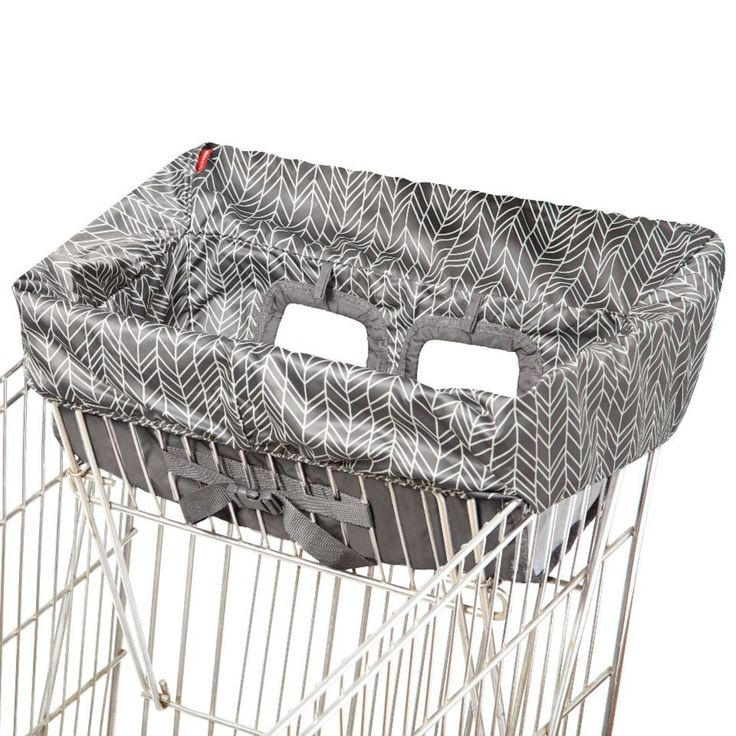 Skip Hop Take Cover Shopping Cart and High Chair Cover - Grey Feather