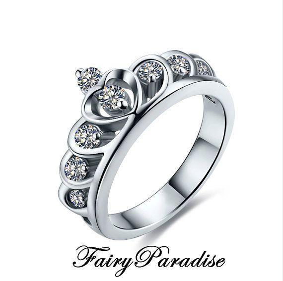 Accent Tiara Ring Princess Crown Ring Princess by FairyParadise