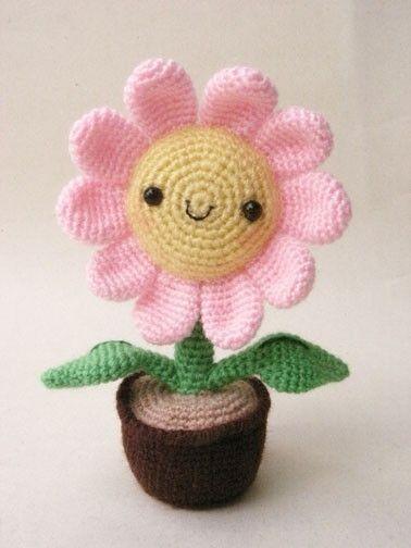Pink Sun Flower PDF crochet pattern by jaravee on Etsy, $5.00