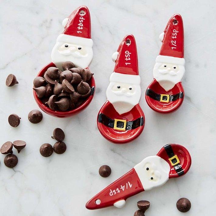 Santa Measuring Spoons, Set of 4