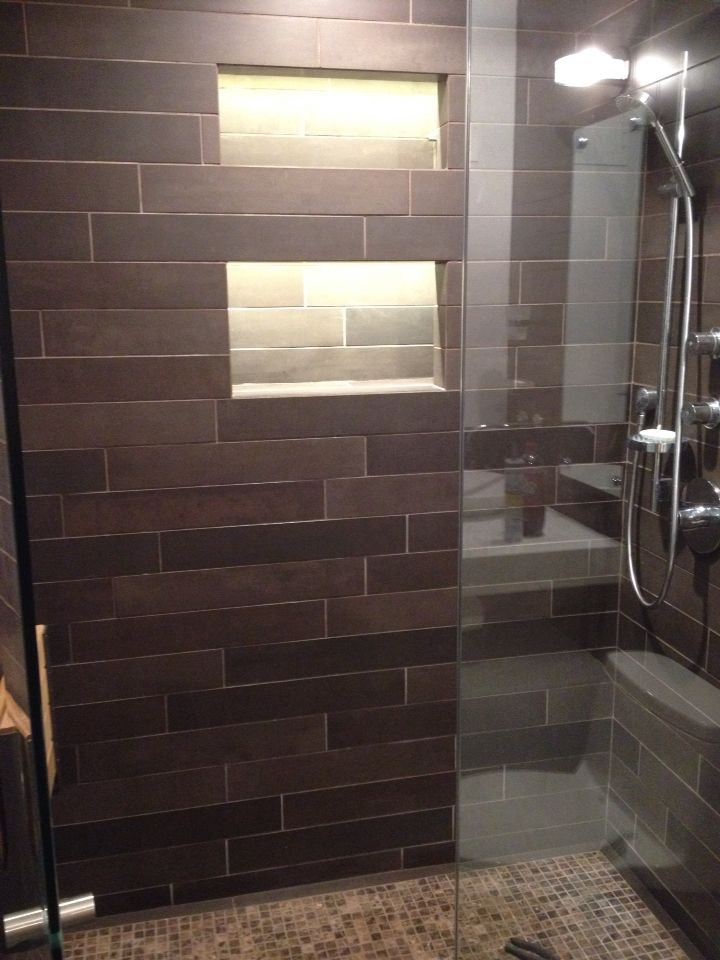 Led tape inside shower niche Tile ideas Pinterest Led tape, Shower niche and Lighting