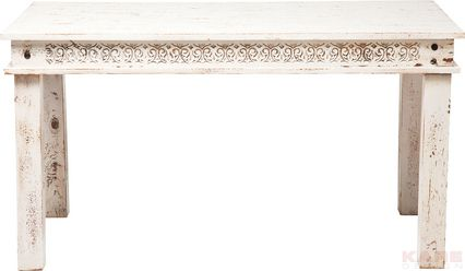 Taberna Table White 140x70cm Material: mango wood, lacquered by hand Size: 0,75 x 1,4 x 0,7 m Weight: 32 kg Номер пункта: 78041