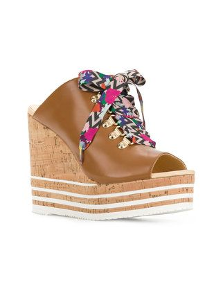 8a633772751 Hogan colour lace wedge sandals