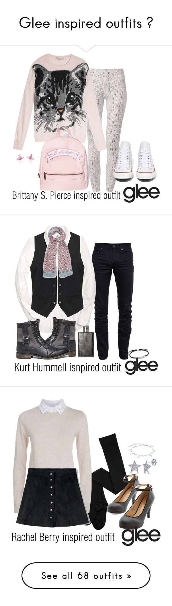 """Glee inspired outfits ♥"" by tvdsarahmichele ❤ liked on Polyvore featuring mode, Due., Paul & Joe Sister, Converse, Vivienne Westwood, Yves Saint Laurent, Brooks Brothers, H&M, Anya Hindmarch et Steve Madden"
