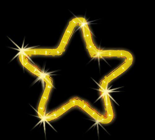 LED dekorácia - žltá vianočná hviezda - 280mm x 280mm
