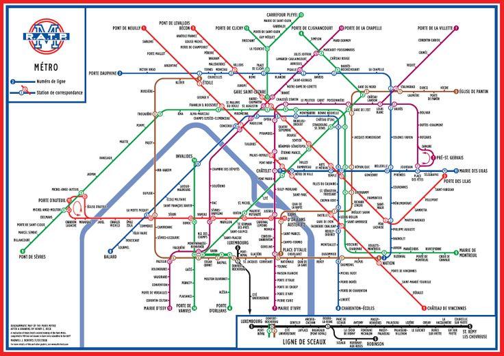 paris underground map printable