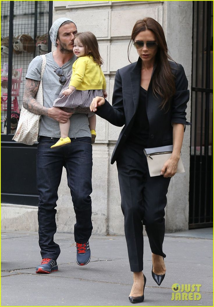 David Beckham holds onto his adorable 21-month-old daughter Harper as he goes out shopping on Friday (May 3) in Paris, France.    The 38-year-old soccer star, who was also joined by his wife Victoria, celebrated his birthday the day before. Happy belated birthday, David!