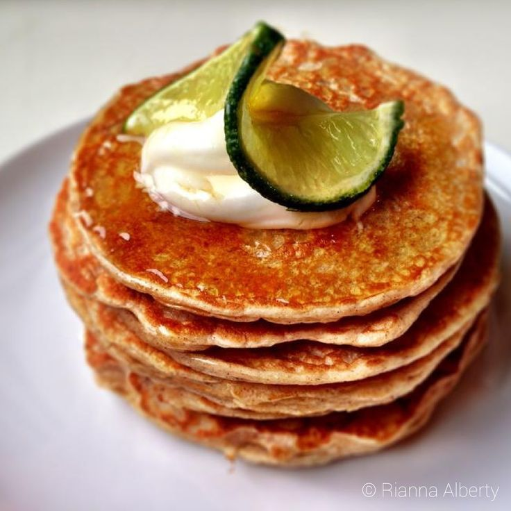 Mango-Lime Protein Pancakes