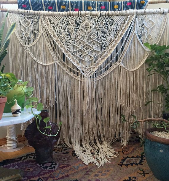"48"" extra large macrame wall hanging, bohemian decor, boho decor, macrame art, wedding decor, wedding backdrop"