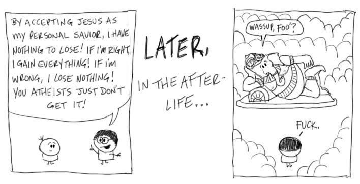 Pascal's Wager comic strip