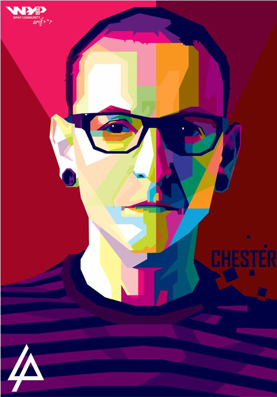 Chester bennington (linkin park) wpap by ariefpeinz on DeviantArt