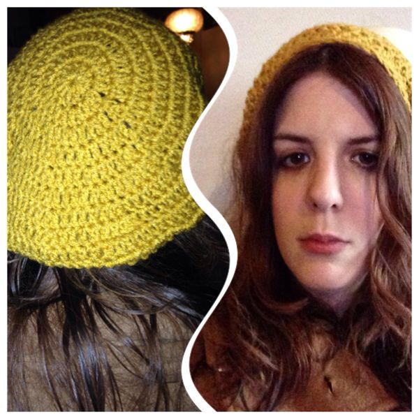 One night left over yarn crochet beanie!