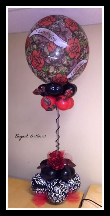 817 best images about balloons for valentines on pinterest for Balloon decoration for valentines day