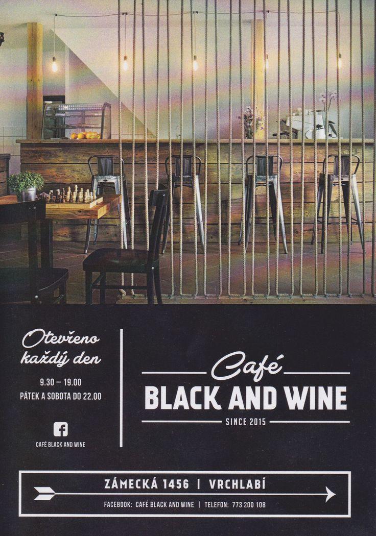 Fotografie užíta na letáčku. Black and wine kavárna