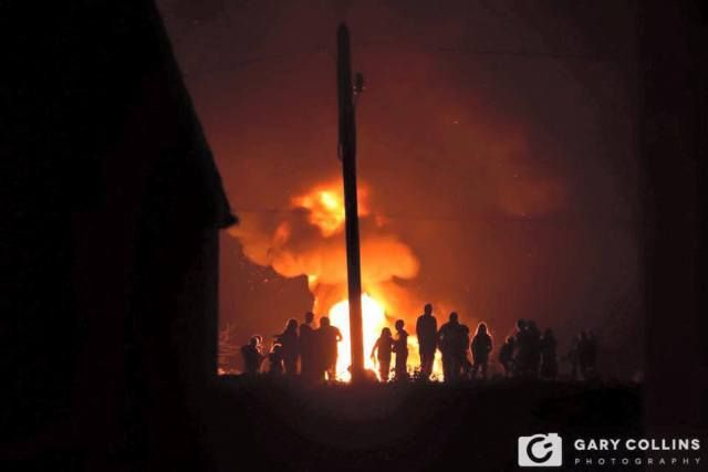 Bonfire in Ennistymon on Halloween night. Pic Gary Collins Photography