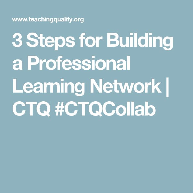 3 Steps for Building a Professional Learning Network | CTQ #CTQCollab