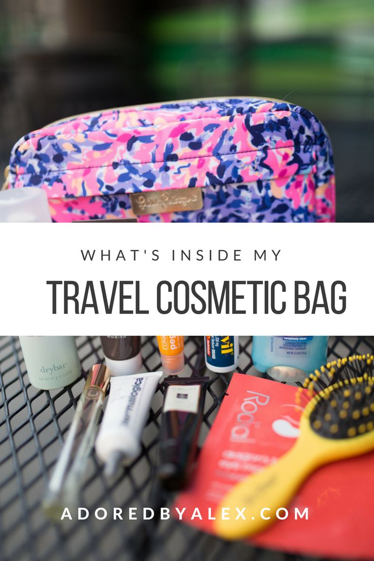 What's Inside My Travel Cosmetic Bag | Adored by Alex