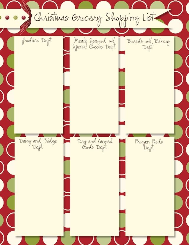 65 best Christmas Grocery List☑ images on Pinterest Christmas - shopping list