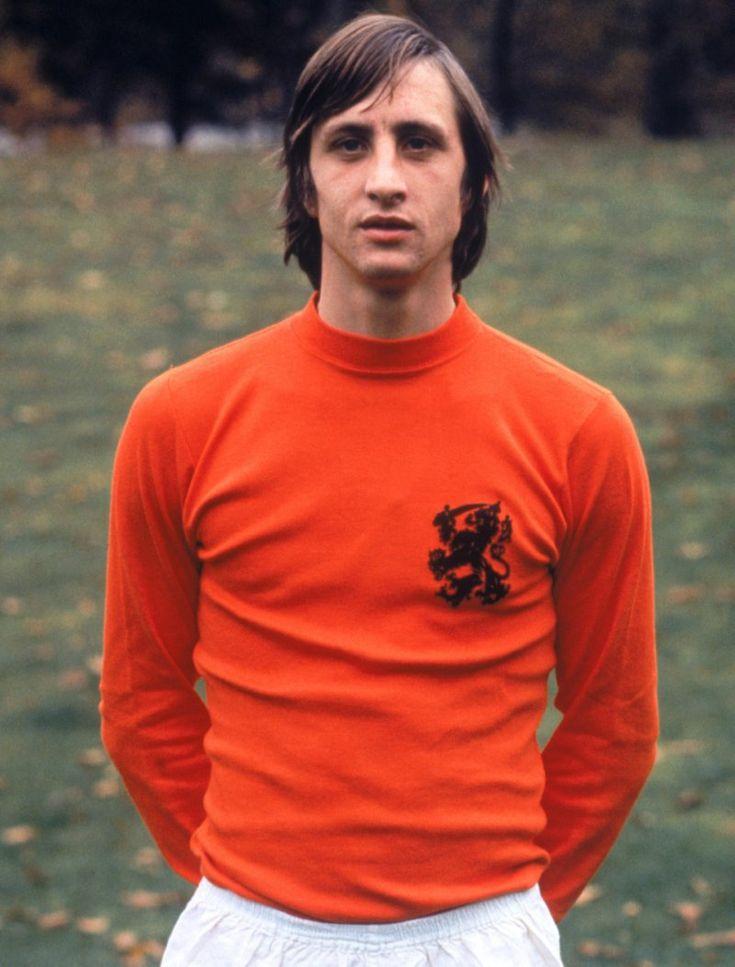 Johan Cruyff, con uniforme de la selección de los Países Bajos, 1969