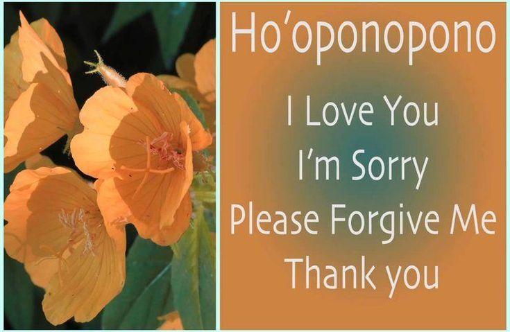 The Ho'oponopono mantra meditation - I Love You, I'm Sorry, Please Forgive Me, Thank You is an old age Hawaiian Mantra Prayer of forgiveness.