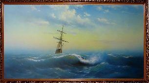 Корабль уходит в море - Морской пейзаж <- Картины маслом <- Картины - Каталог | Универсальный интернет-магазин подарков и сувениров