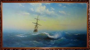 Корабль уходит в море - Морской пейзаж <- Картины маслом <- Картины - Каталог   Универсальный интернет-магазин подарков и сувениров