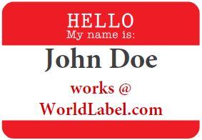 Free name tag template