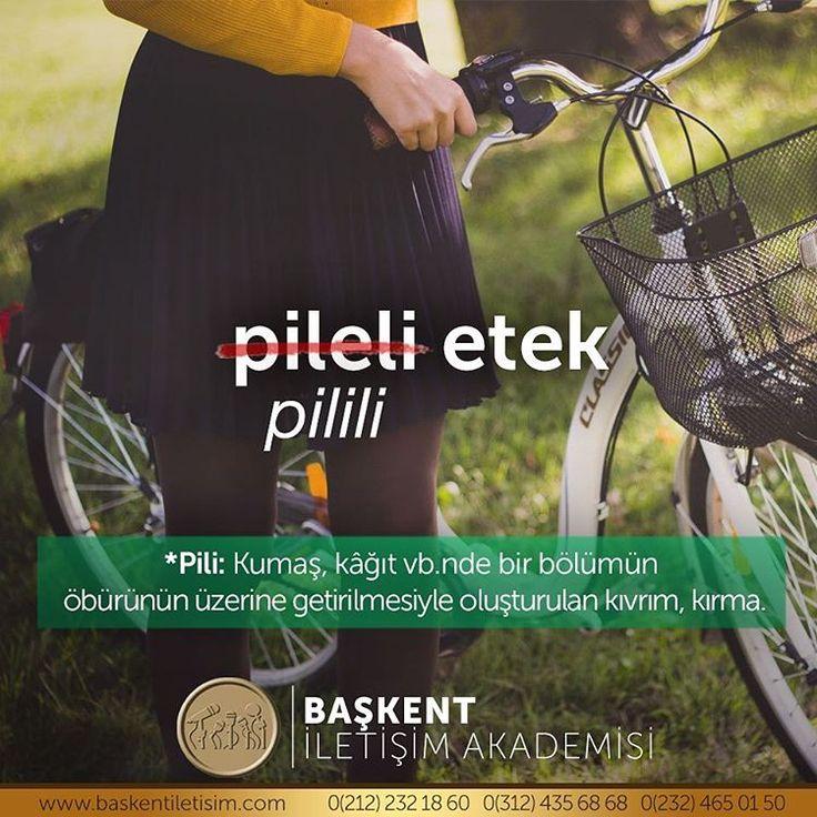 """""""pileli etek"""" ❌ - """"pilili etek"""" ✅⠀⠀ #DoğruTürkçe"""