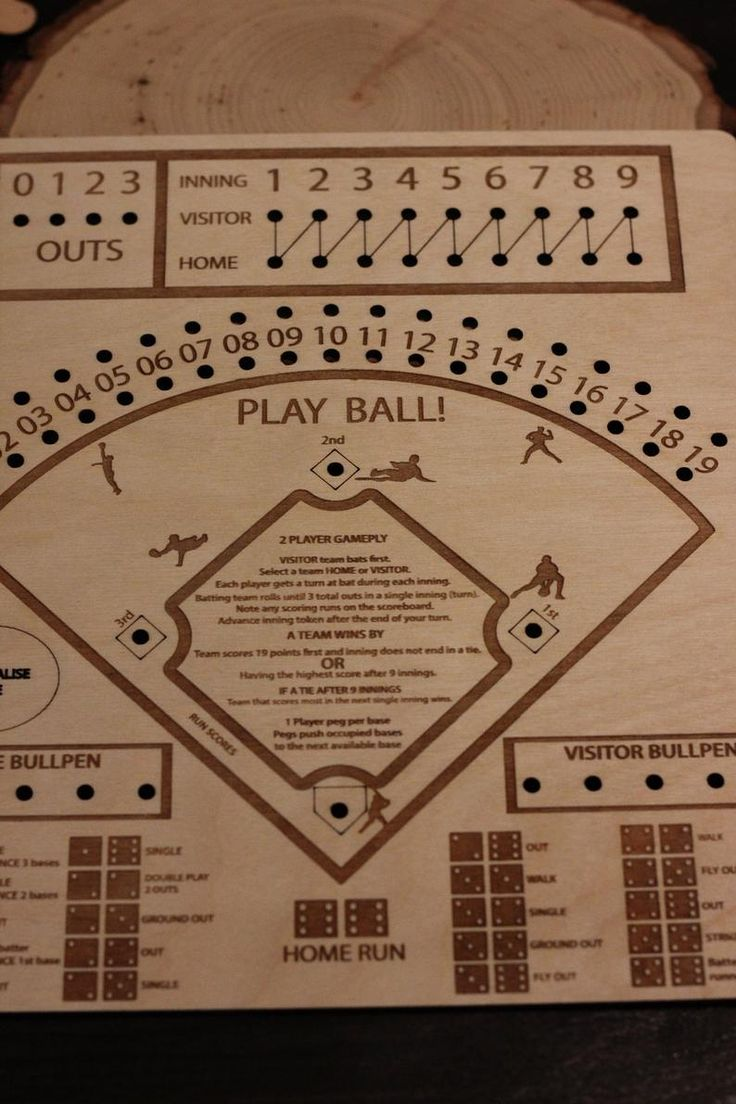 Baseball Board Game Complete Includes Board Pieces And Dice Etsy Board Games Diy Yard Games Games