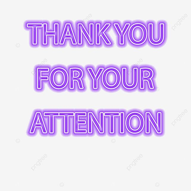 Purple Thank You For Your Attention Text Neon Glow Word Art Word Art Neon Glow Word Art Fonts