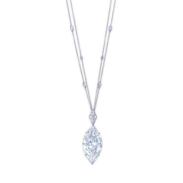 A magnificent diamond pendant necklace #christiesjewels