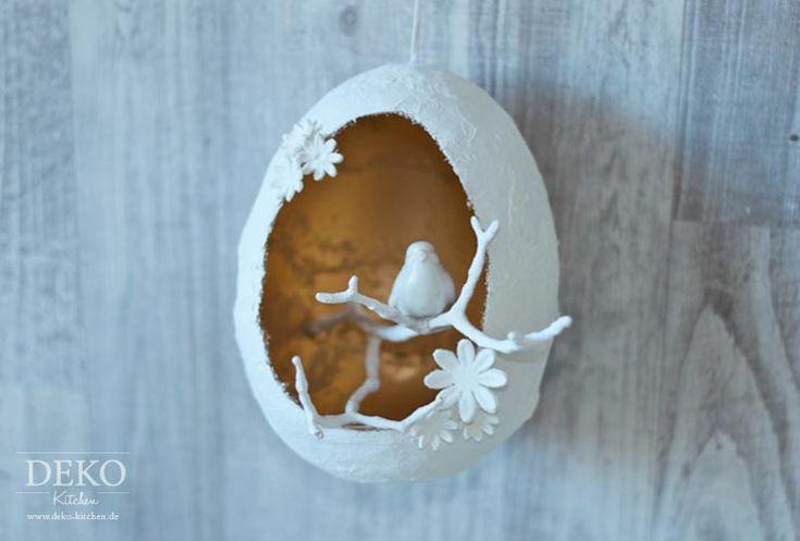 DIY: hübsche Deko-Ostereier mit Gips selber machen
