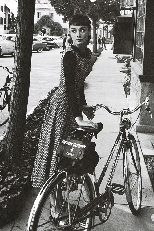 vintagegal: Audrey Hepburn photographed by Mark Shaw on the set of Sabrina, 1953.