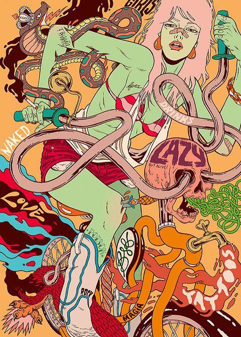 New art by Brazilian collective Bicicleta Sem Freio
