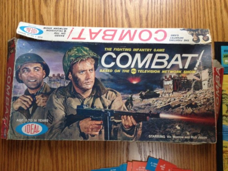 Ideal -- Combat! The Fighting Infantry Game - Based on ABC TV Network Show. Box and pieces show wear. Box is torn. Spinner is broke. | eBay!