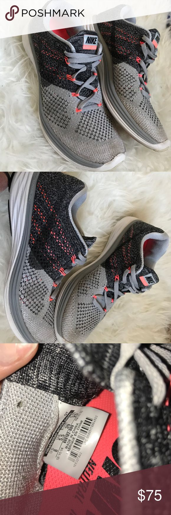 Nike Lunar 3 Nike lunar flynit 3 super comfortable!! I listed them as 7.5 because even though they are technically an 8 they fit a 7.5 much better. In great condition Nike Shoes Sneakers