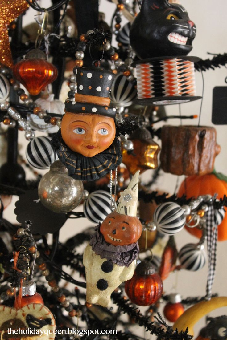 Vintage halloween paper decorations - Holiday Folk Art With An Emphasis On Halloween And Christmas