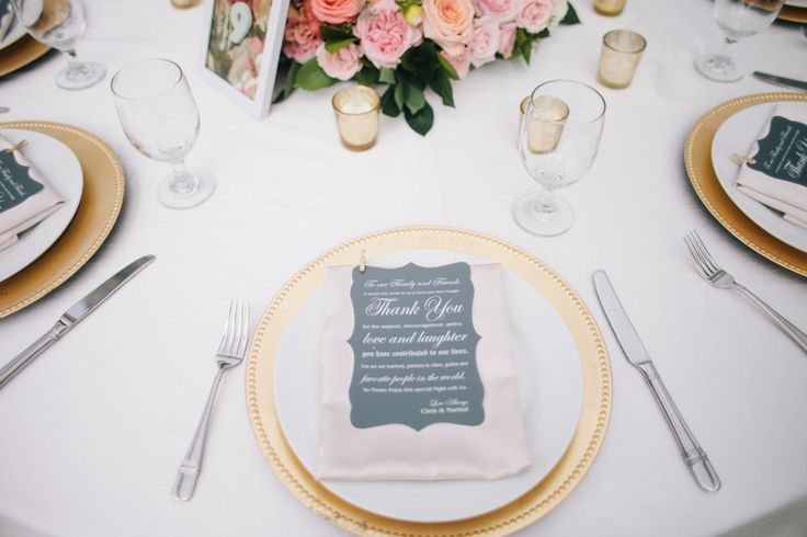 Gold and blush reception table