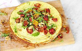 Cheesecake med pesto och bakade tomater - Recept - Arla