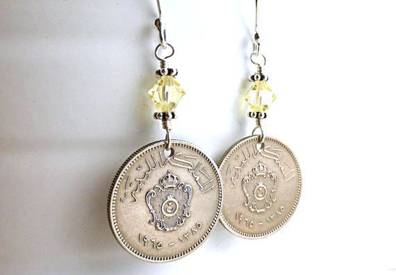 Hey, I found this really awesome Etsy listing at https://www.etsy.com/listing/242538670/coin-earrings-libyan-vintage-earrings