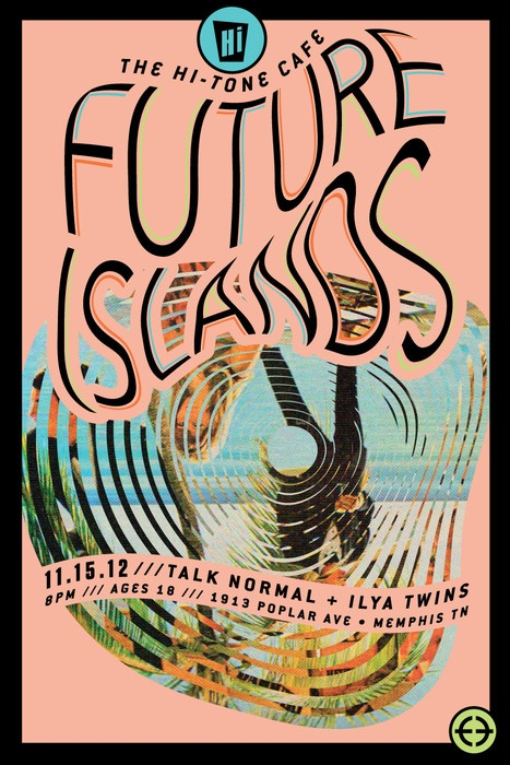 Future Islands concert poster design